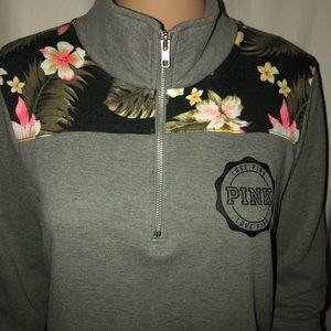 PINK Victoria's Secret 1/4 zip sweatshirt